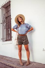 Light Shorts Outfit Prairie Chic In Green Shorts Green Shorts Outfit Outfits