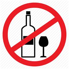 Sign Alcohol Wine Notice No Drunk Ban Icon