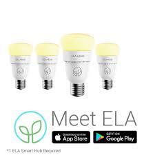Walmart Alexa Light Bulbs 4 Pack Lumenari Ela Smart Bulbs Hub Not Included Color And Temperature Tuneable Alexa Ifttt