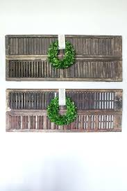 farmhouse shutters decor thrifty shutter wall decor home interior decorating ideas