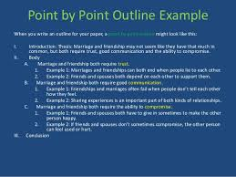 how to write a compare contrast essay point by point outline example