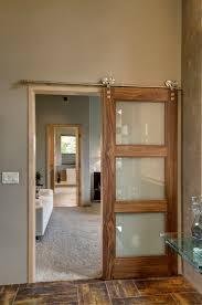 Golden Eagle Interior Barn Door (Square Top Rail, 3-Lite, Select Walnut