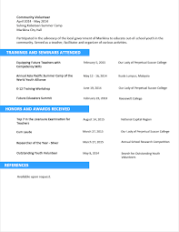 Sample Resume Format for Fresh Graduates - Two-Page Format 3.2