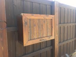 Outdoor Storage Cabinets With Doors Gorgeous Teak Wood Flip Top Single Door Outdoor Tv Cabinet Attach