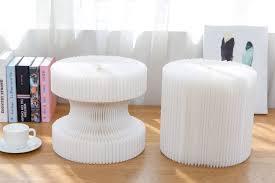 expandable furniture. Accordion Furniture Dual Shape Paper Chair White Expandable