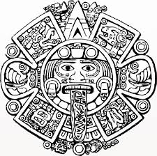 Small Picture Aztec calendar coloring page Aztec calendar coloring page 2 Kil