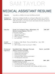 Example Of Medical Assistant Resume Example Medical Assistant Resume Englishor Com
