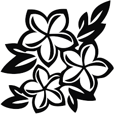flowers clipart black and white hawaiian flowers picture freeuse stock