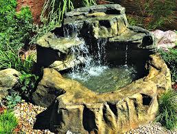 diy patio pond: medium patio pond waterfalls rock kit