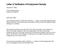 Sample Proof Of Employment Letter Verification Of Employment Bravebtr