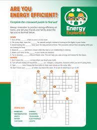 Are You Energy Efficienct Crossword Puzzle Chemistry