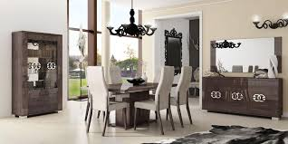 modern italian dining room furniture. Italy Made Prestige Extendable Walnut Dining Set With Chairs Modern Italian Room Furniture