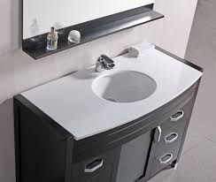 espresso finish single sink vanity set white stone countertop bathroom vanity set white stone top