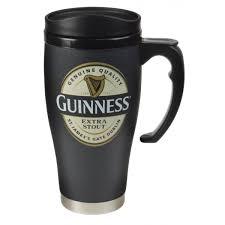 guinness cream label travel mug