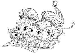 Coloring Shimmer And Shine Printable Coloring Pages