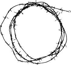 7 circle barbed wire frame transparent onlygfx