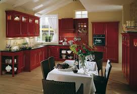 Beautiful Red Country Kitchen Decorating Ideas Designs Photo Gallery 2013 Themes Inside Models Design