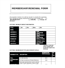 Membership Dues Template Membership Form Template Word Caseyroberts Co