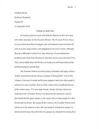 freedom writers essay   term papers    words freedom writers essay  yahoo answers