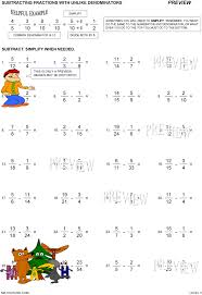 Adding And Subtracting Fractions With Common Denominators ...