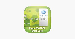 kroger rewards credit card app on the