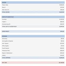 036 Income Statement Format Excel Projected And Balance