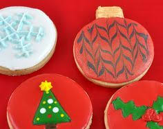 round christmas sugar cookies. Fine Cookies Decorated Round Christmas Sugar Cookies 26 Best Cookie  Decorating Ideas Images On To Cookies E