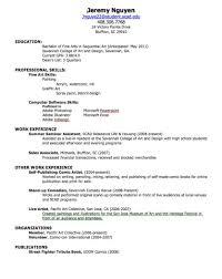 Resume Format For First Job Www Omoalata Com