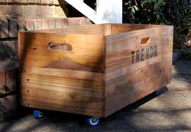 Large Wooden Boxes To Decorate Personalized XLarge Rolling CrateWooden CrateToy 33