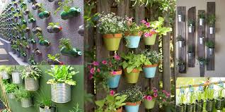 examples of vertical gardens made with containers