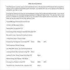 Microsoft Word Outline Template Bible Sermon Outline Template Free Printable Expository