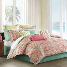 echo design tc guinevere coral comforter set