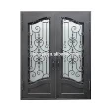 Single Design Door Wholesale Modern Cheap Prices Custom Size Weather Strip Wrought Iron Garage Doors Made In China
