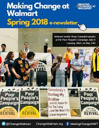 News Letters Mcaw Newsletters Making Change At Walmart