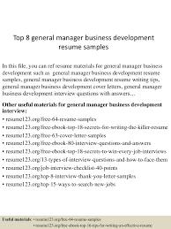 Business Development Resume Sample Top10000generalmanagerbusinessdevelopmentresumesamples100505300901000026lva100app61000092thumbnail100jpgcb=10010032976960 38