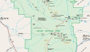 official arches national park map pdf  my utah parks