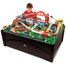 Train Set Table With Drawers Melissa And Doug Train Table With Optional Railway Set Trains