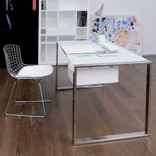 work desk ideas white office. Unique Rectangular Work Desk With Stainless Steel Net Side Chair And White Couch Ideas Office A