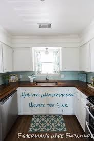 Waterproof Kitchen Flooring Fishermans Wife Furniture Waterproofing Under The Sink