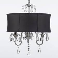 astounding black drum shade crystal chandeliers with black shade