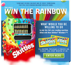 Create The Rainbow Skittles Vending Machine Amazing Ignite Social Media The Original Social Media Agency Skittles