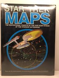 Star Trek Star Charts Book Star Trek Maps The Navigational Charts Of The Five Year Voyage Of The Starship Enterprise