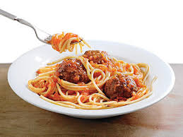 Image result for pasta with meatballs