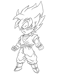 Small Picture Dragon Ball Z Super Saiyan Free Coloring Page H M Coloring Pages