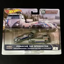 HOT WHEELS TEAM TRANSPORT - Porsche 356 Speedster & Volkswagen ...