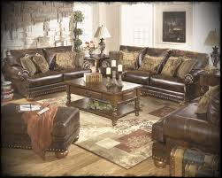 Wooden Living Room Sets Ashley Living Room Furniture Sets With Classical Leather Sofas And