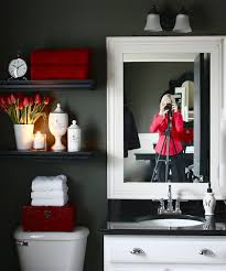 filled with bathroom necessities and a few pretty things it doubles as a weling display