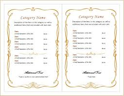 Ms Word Menu Templates Editable Menu Templates For Ms Word Word Excel Templates