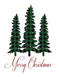 Plaid Christmas Tree Christmas Tree And Deer Plaid Christmas Prints The Birch Cottage