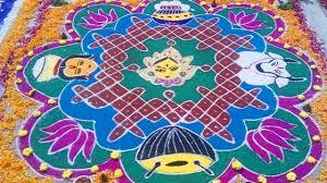 Sankranthi Designs With Dots 34 Latest And New Sankranthi Rangoli Designs For 2019